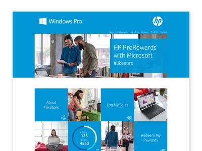 Hp Pro Rewards Portal ux design ui design ux ui