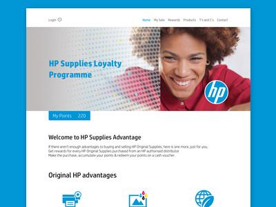 Hp Supplies Programme Portal ux design ui design ux ui