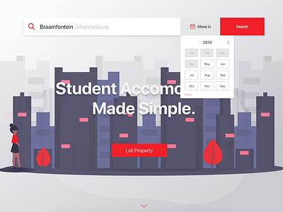 Month Selection UI adobexd prototype website digital design user interface design website design ui design ui