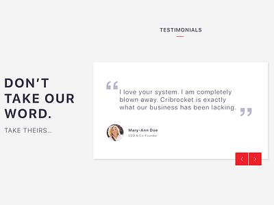Testimonial Card Design digital design website testimonial card web design ui design ui