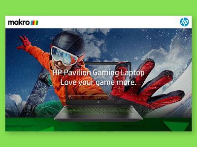 Hp Pavilion Gaming Landing Page makro hp pavilion hp gaming landing page website design user experience uxdesign user inteface ui design ui
