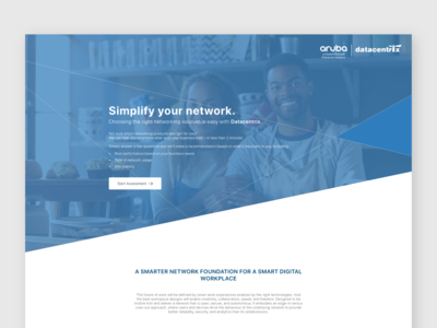 Aruba & Datacentrix Lead Generation Page