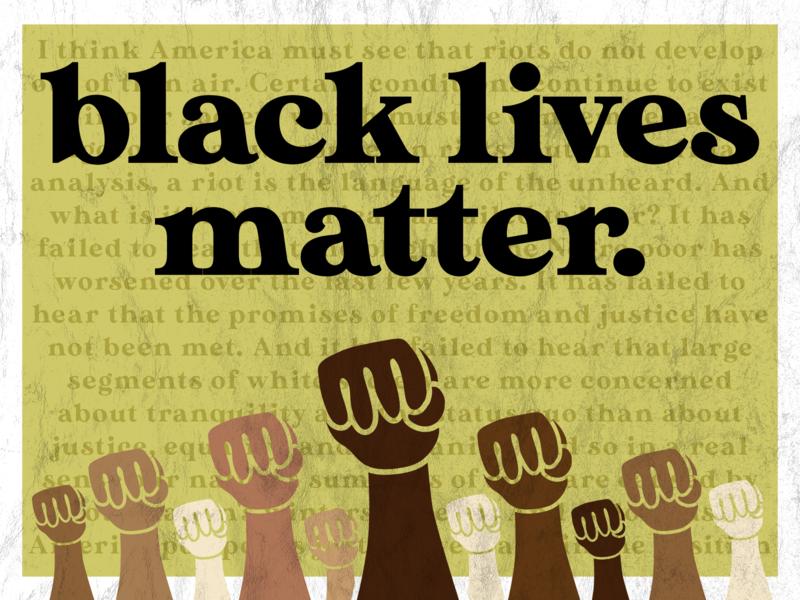 black lives matter design social justice illustration typography black lives matter