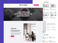Onepage website template for Freelance Copywriters