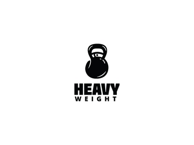 Heavyweight Logo muscle bodybuilder exercise training heavyweight heavy strength strong power boxing sports sport dumbbell kettlebell workouts gym fitness logo logos for sale