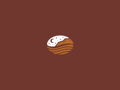 Night Mountain Coffee Logo illustration grunge coffeebean moon scenery outdoor sky star chocolate brown mocha desert mountain coffee night branding logomark for sale logo logos