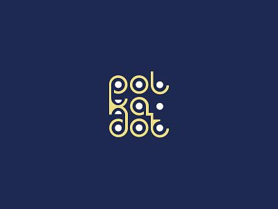 Polka Dot branding illustrator vector design logo typography logotype logos lettering custom fonts letters words circle pattern polkadot dot polka