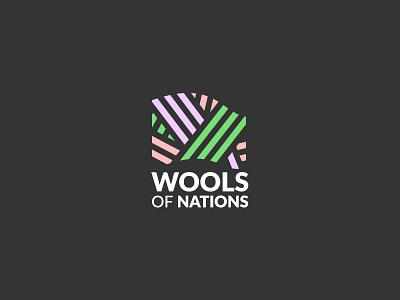 Wools of Nations illustrator yarn wool flag logomark logo logos fabric cloth pin needle sewing handmade knitwear knitting store seller supplier nations wools