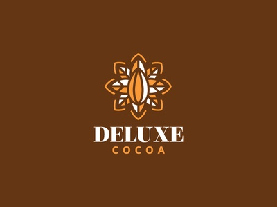 Deluxe Cocoa cookies sweet coconut hazelnut almond milk chocolates caramel brown vintage classic elegant plantation cacao cocoa cafe desserts special luxurious deluxe