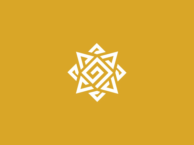 Sun Glyph Logo glyph ethnic sol sun sunflower fire flare ignite radiance token badge insignia emblem ornamental geometric monogram abstract mark patterns artifact