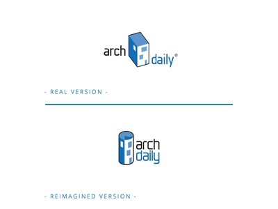 Reimagined ArchDaily Logo studio structure house buildings abstract logomark rebranding rebrand architectural architects interiordesign interior construction building architecture architect design branding logo logos