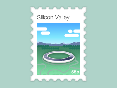 Silicon Valley stamp   Dribbble Weekly Warm-up #10