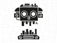 Mechanical Black Skull