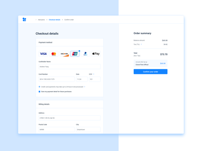 Daily UI Day2 - Credit Card Checkout daily 100 challenge daily ui logo web ux ui design dailyui app adobexd
