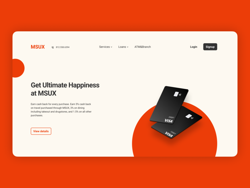 MSUX Bank Landing Page #1 branding web daily 100 challenge figmadesign figma dailyui