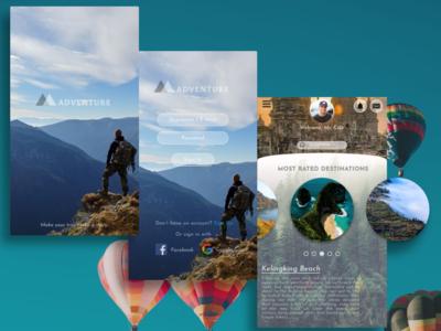 Travel App Homepage