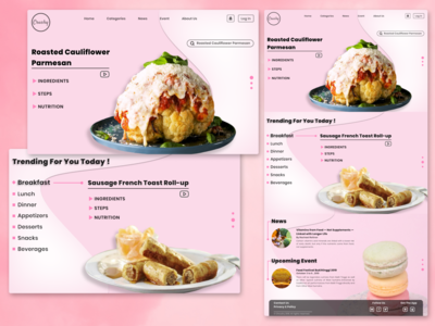 Food  Website Homepage