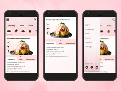 Food & Recipes App Design