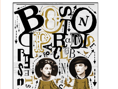 The Dresden Dolls dadaism type dada event poster graphic design the dresden dolls