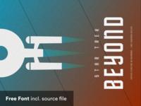 Star Trek Beyond Typeface exercise