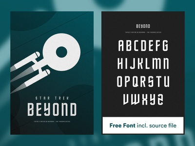 Poster Star Trek Beyond beyond typeface playtime star trek