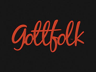Gottfolk logo, experimental stage logo gottfolk