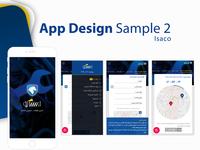 Isaco App Design Sample 2