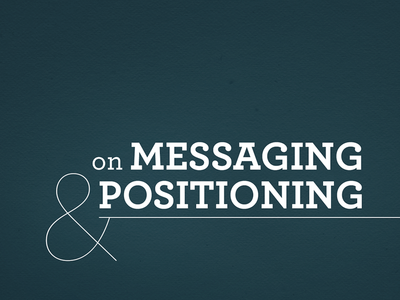 On Messaging & Positioning Cover