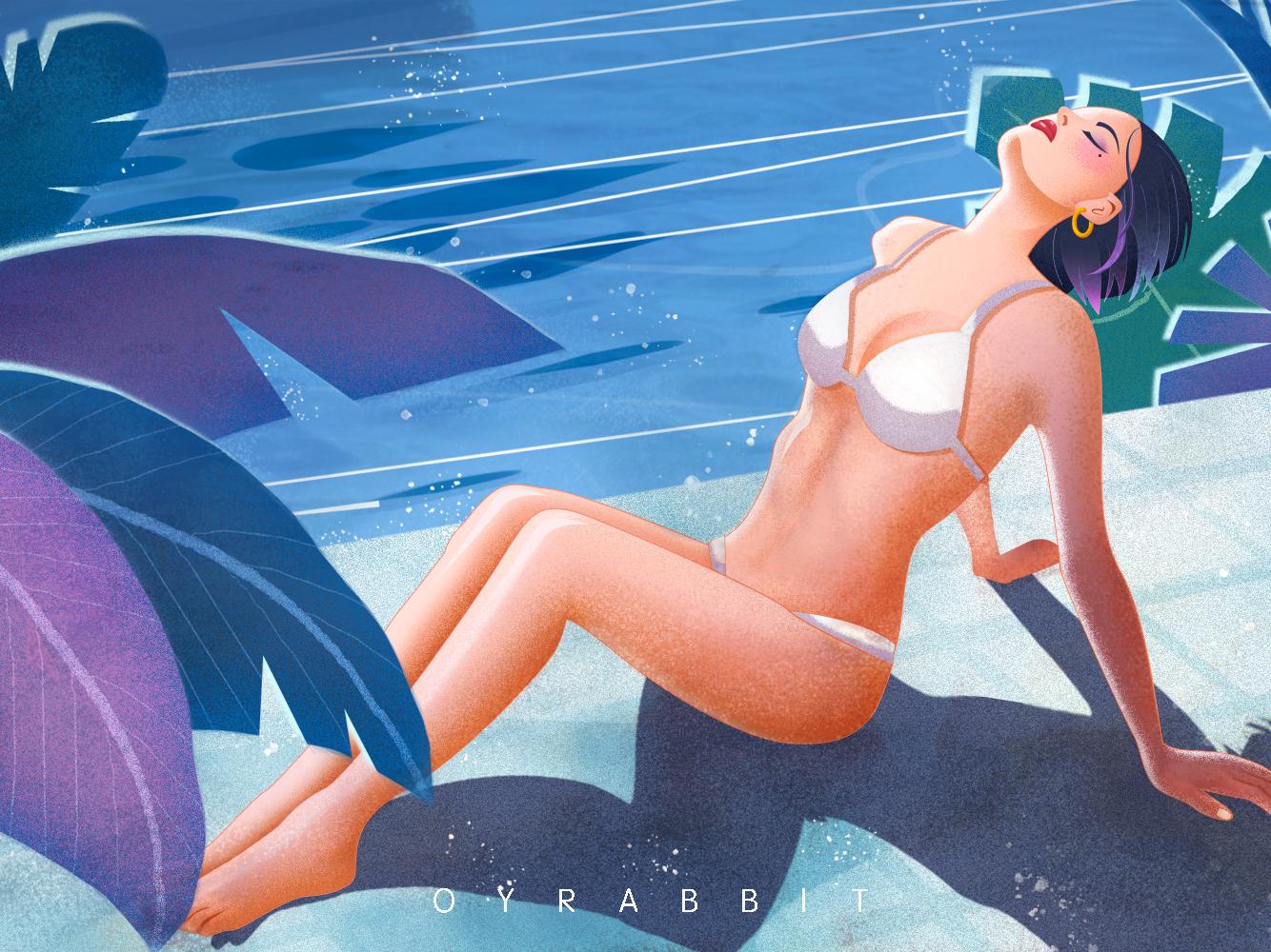 泳装小姐姐1 photoshop illustration