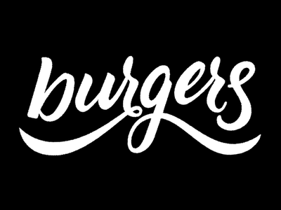 Burgers fourth of july handdone type typography hand-lettering lettering handlettering