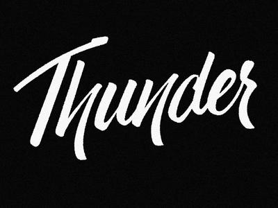 Thunder handdone type typography hand-lettering lettering handlettering