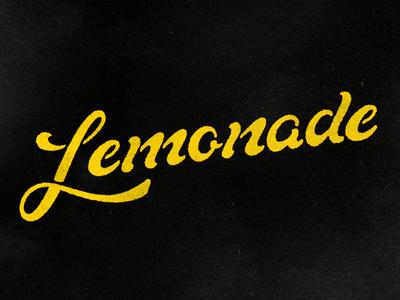 Lemonade handdone type typography hand-lettering lettering handlettering