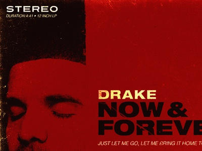 Now and Forever drake album cover vintage typography