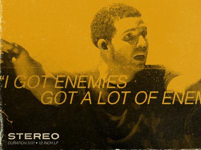 Energy drake album cover vintage typography