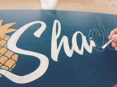 Snack Shack Sign sign painting typography lettering