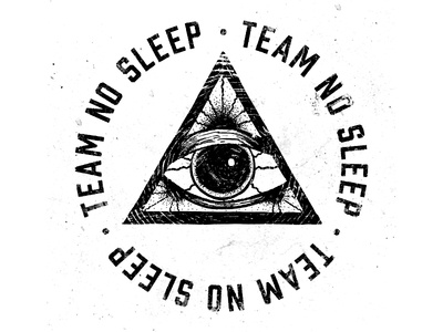 Team No Sleep illustration typography design