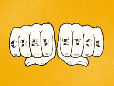 Crave You tattoo illustration hand-lettering lettering handlettering