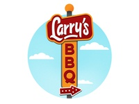 Larrys BBQ Sign