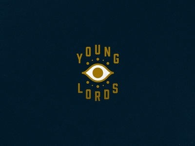 Young Lords typography illustration branding