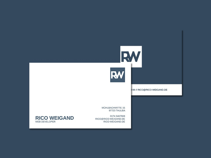 Rico Weigand Corporate Design Business Card By Rico Weigand