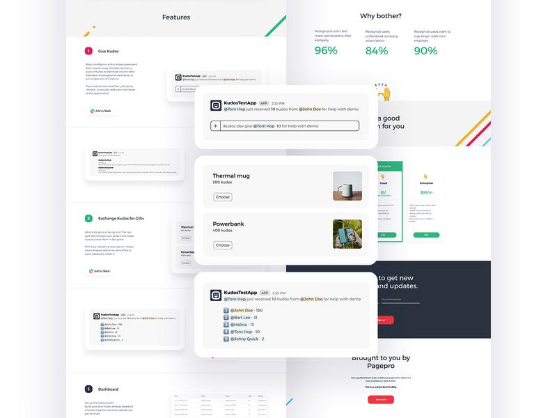 Open Kudos 2 design app landing clean flat simple ux ui