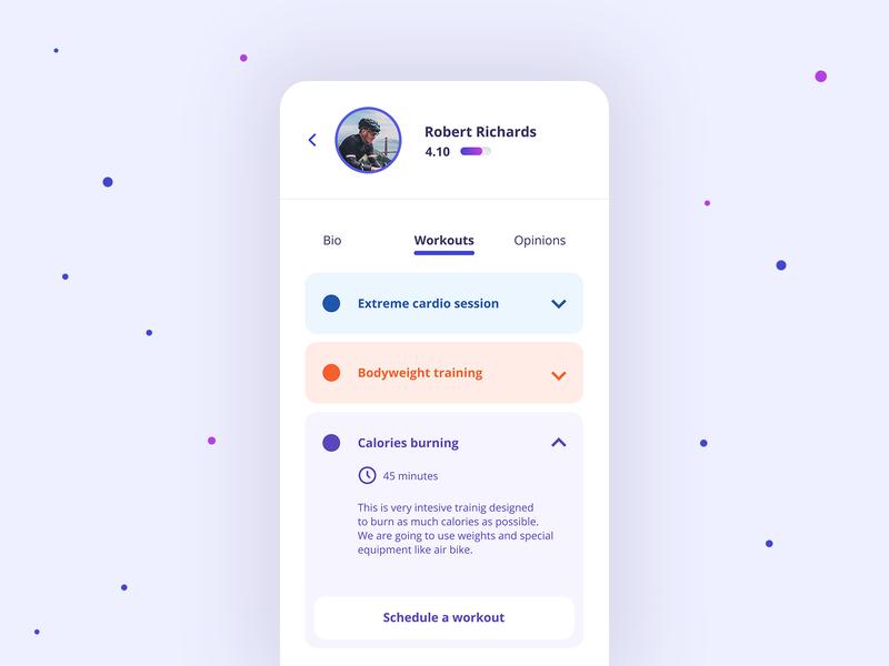 Strngr💪 mobile app clean flat simple ux ui