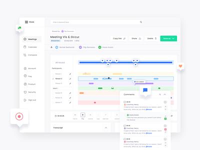 🎙️🤗 MeetPolka dashboard ui dashboard call zoom app design landing flat clean simple ux ui