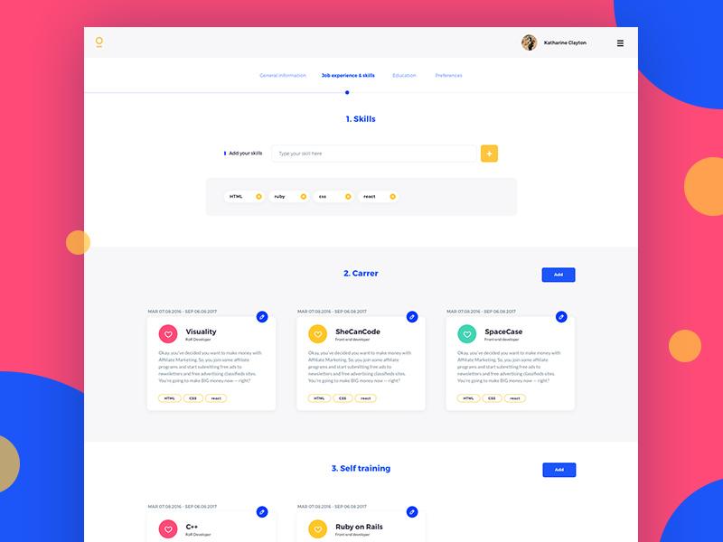 Personal development - edit your profile
