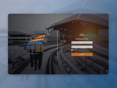 Web UI - KAI Welding Login Page
