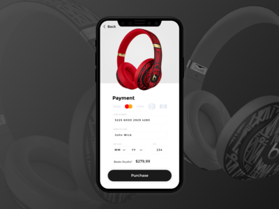 UI Credit Card Checkout Mobile