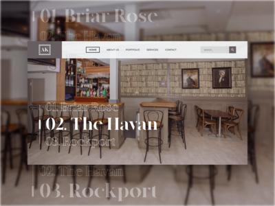 Interior designer homepage