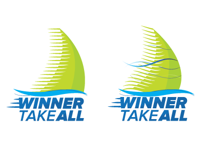 Winner Take All boat sports illustration branding logo