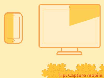 Mobile & Desktop illustration mobile desktop puzzle infographic