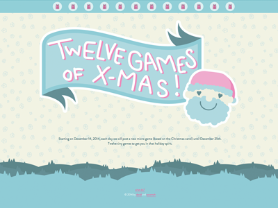 12 Games of Xmas christmas xmas website game games carol cute